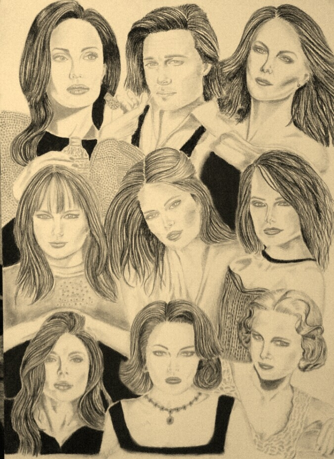 Lindsay Lohan, Grace Kelly, Daisy Ridley, Doutzen Kroes, Angelina Jolie, Taylor Swift, Charlize Theron, Brad Pitt by mngha